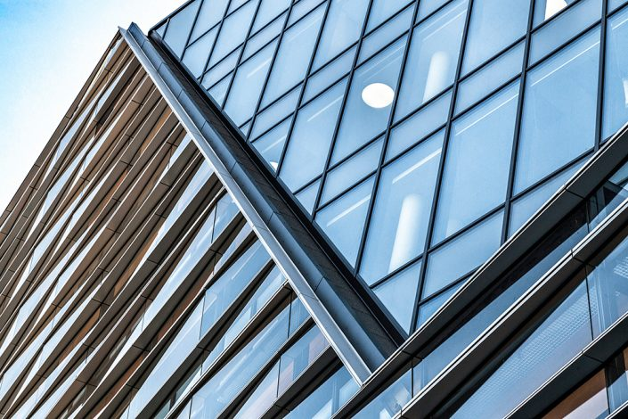 Sparebanken Vests nye hovedkvarter i Jonsvollskvartalet. Foto ©Otto von Munchow