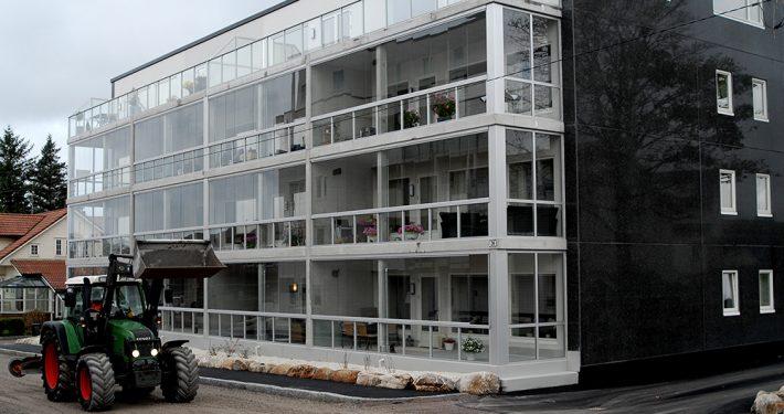 Innglassing av terrasser. Vigrestad