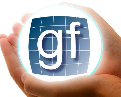 Foto av Glass og Fasadeforeningens logo