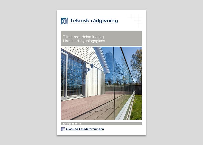 Foto av veileder Tiltak mot delaminering i laminert bygningsglass